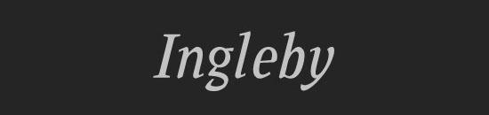Typographie Ingleby