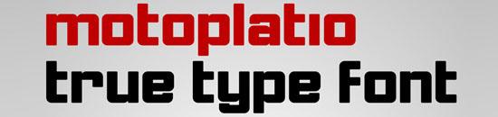 Typographie Motoplatio