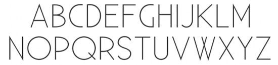 Typographie Existence Light