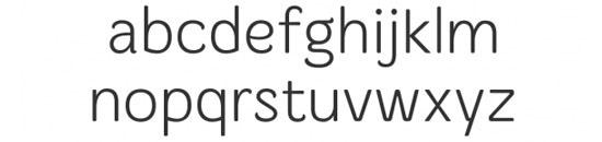Typographie Merge