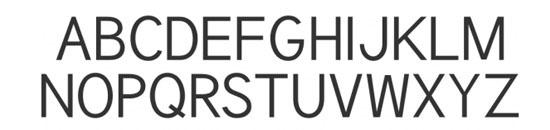 Typographie Tuffy