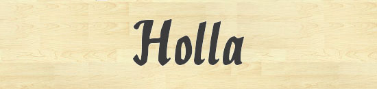 Typographie Holla