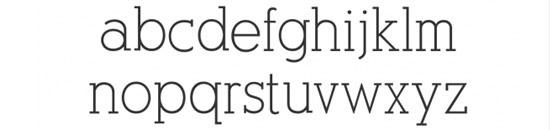 Typographie AlexandriaFLF