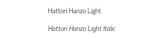 Typographie Hattori Hanzo