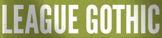 Typographie League Gothic