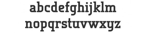 Typographie Tertre