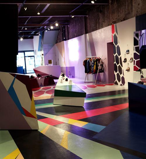 Reebok Flash 01 Design, concept et architecture de magasins et de boutiques