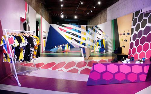 Reebok Flash 02 Design, concept et architecture de magasins et de boutiques