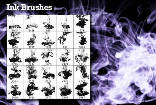 brushes d'encre pour Photoshop