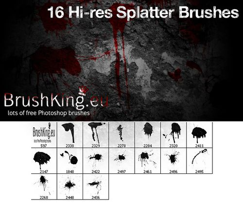 261 collection de brushes, d'actions, de styles pour Photoshop