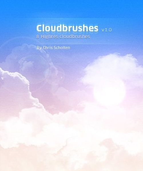 brushes de nuages pour Photoshop