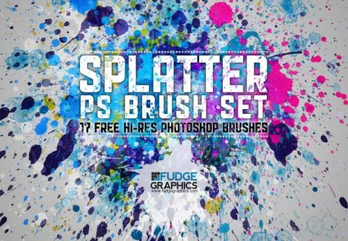 brushes d'éclaboussures de splash pour Photoshop
