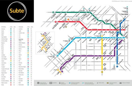 cartes-souterraines52 dans les métros à travers le monde