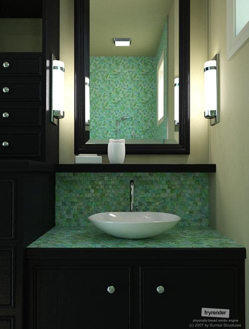 Vanité de chambre de bain