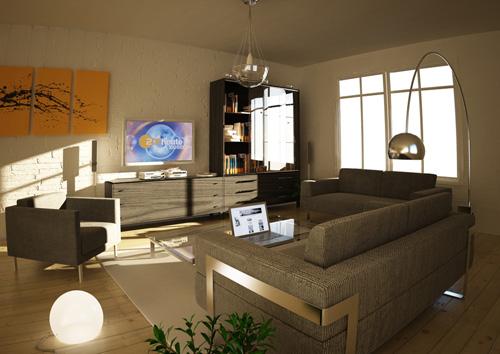 Rendu 3D Wohnzimmer