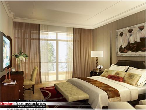 Modélisation Chambre à coucher d'un appartement
