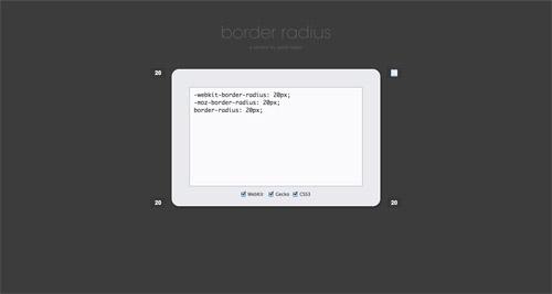 CSS Border Radius Generator