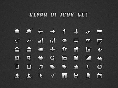 icônes Glyph UI