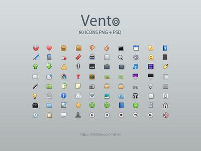 Paquet d'icônes Vento