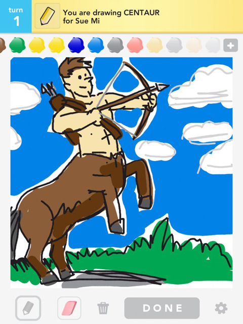 draw something centaur