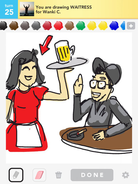 draw something waitress