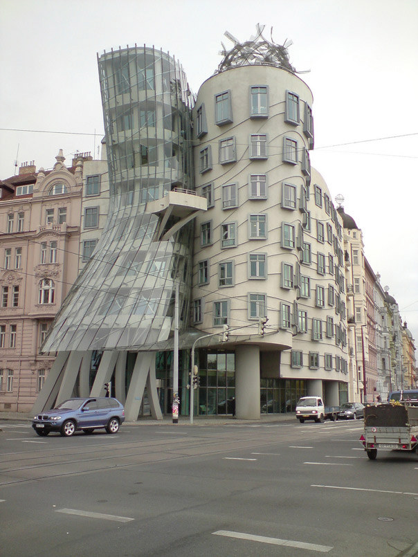 Cylindrical Building Corner in Prague