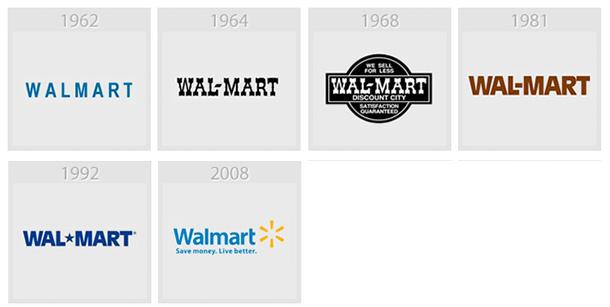 Wallmart évolution des logos