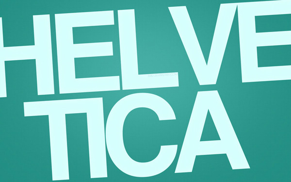 Helvetica Wallpaper by Jeremy Paillotin