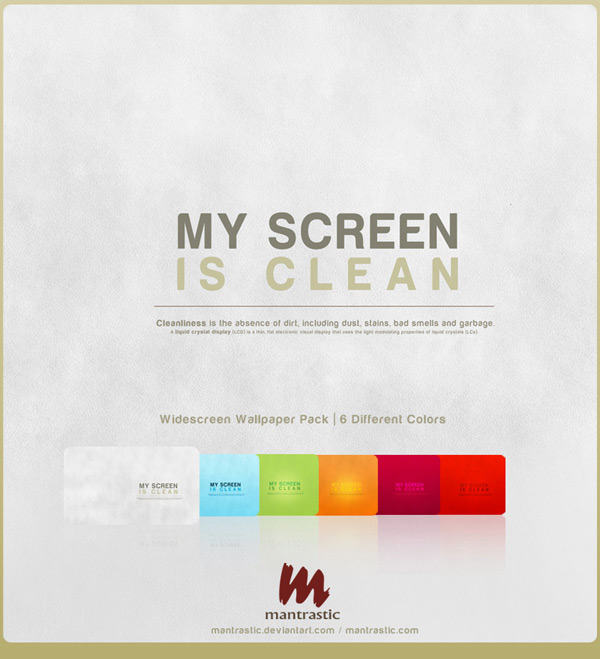 My Screen is Clean by Matan B