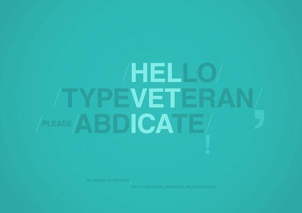 Typographie Veteran par Radu Ceuca