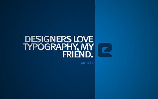Fond d'écran typographie 2