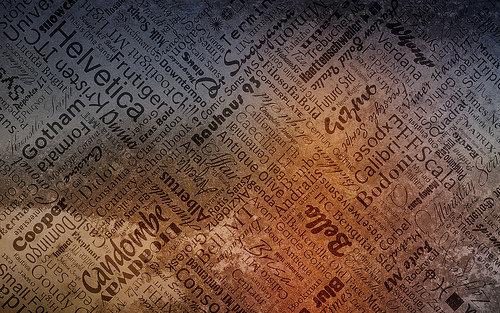 Fond d'écran pour les adeptes de typographies 22
