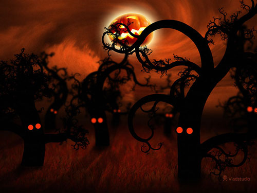 Vladstudio Midnightforest Halloween 800x600 in Halloween Special: 40 Spooky Wallpapers