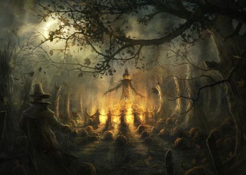 Arbres dans le spécial Halloween : fonds d'écran