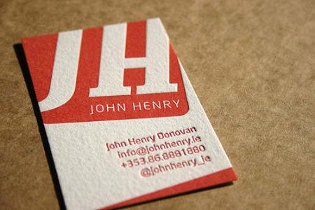Cartes professionnelles pour : John Henry Donovan