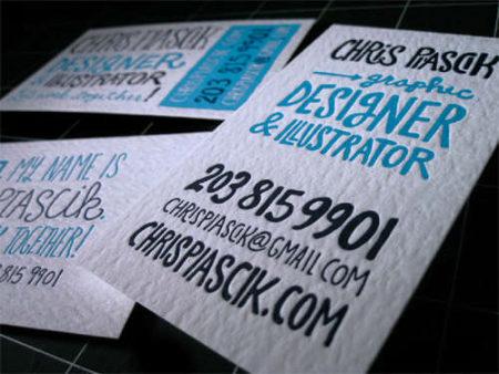 Cartes Professionnelles pour Chris Piascik