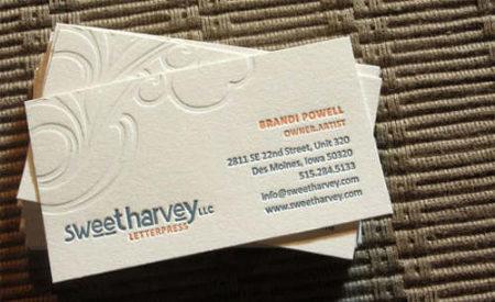 Letterpress en trois couleurs par Brandi Powell