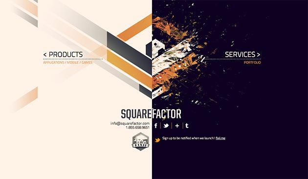 site jQuery Squarefactor