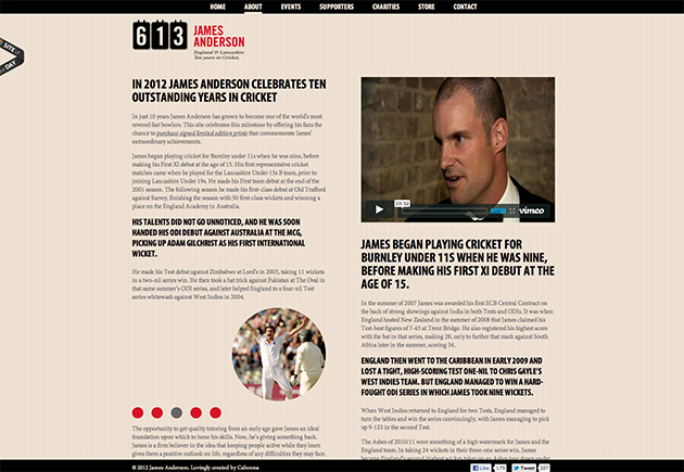 site jQuery James Anderson
