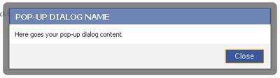 fbml popup boîte de dialogue