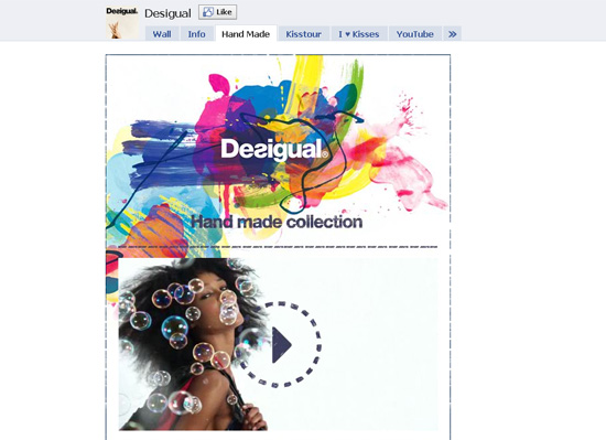 Desigual dans les exemples pages fans facebook