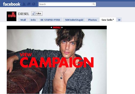 Diesel dans les exemples pages fans facebook