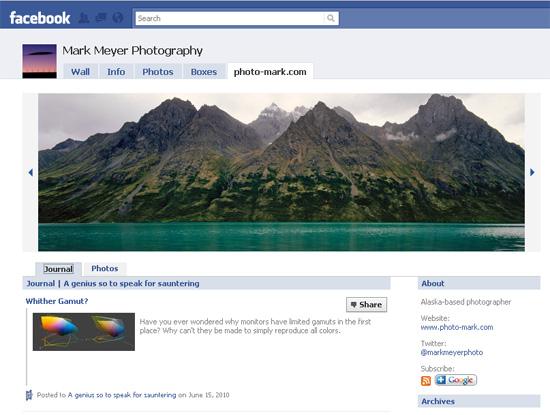Markmeyer dans les exemples pages fans facebook