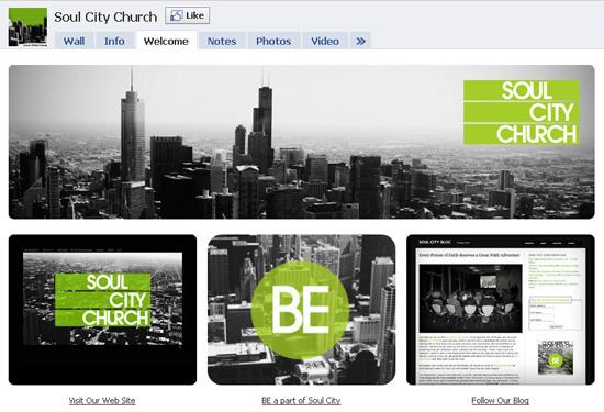 Soulcitychurch dans les exemples pages fans facebook