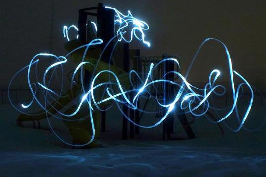 Light painting ou peinture de lumière - 91