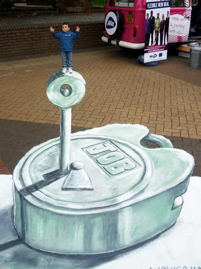 A4e Road Trip peinture de la rue 3D