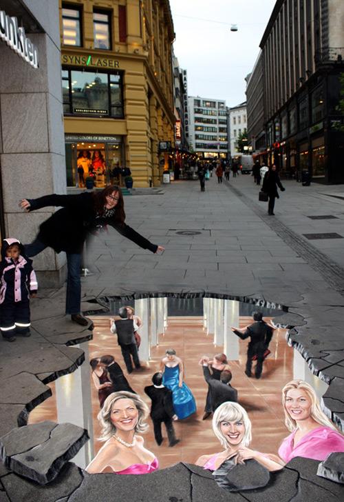Lutte contre le sida peinture de la rue 3D