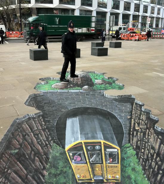 Sous terre peinture de la rue 3D