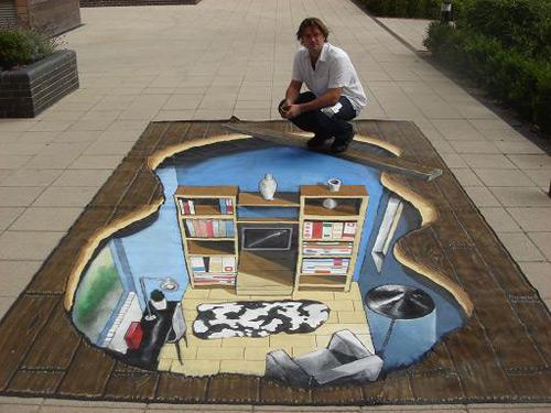 Ikea peinture de la rue 3D