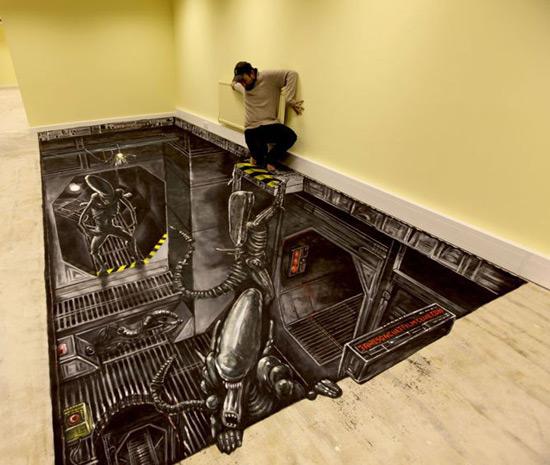 Club de films cultes Jameson peinture de la rue 3D